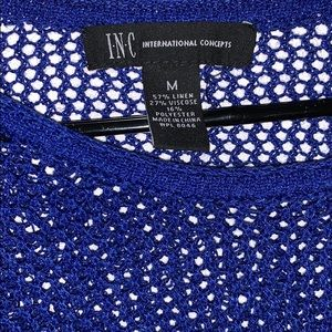 INC International Concepts Tops - INC International Concepts Blue Knitted Sweater